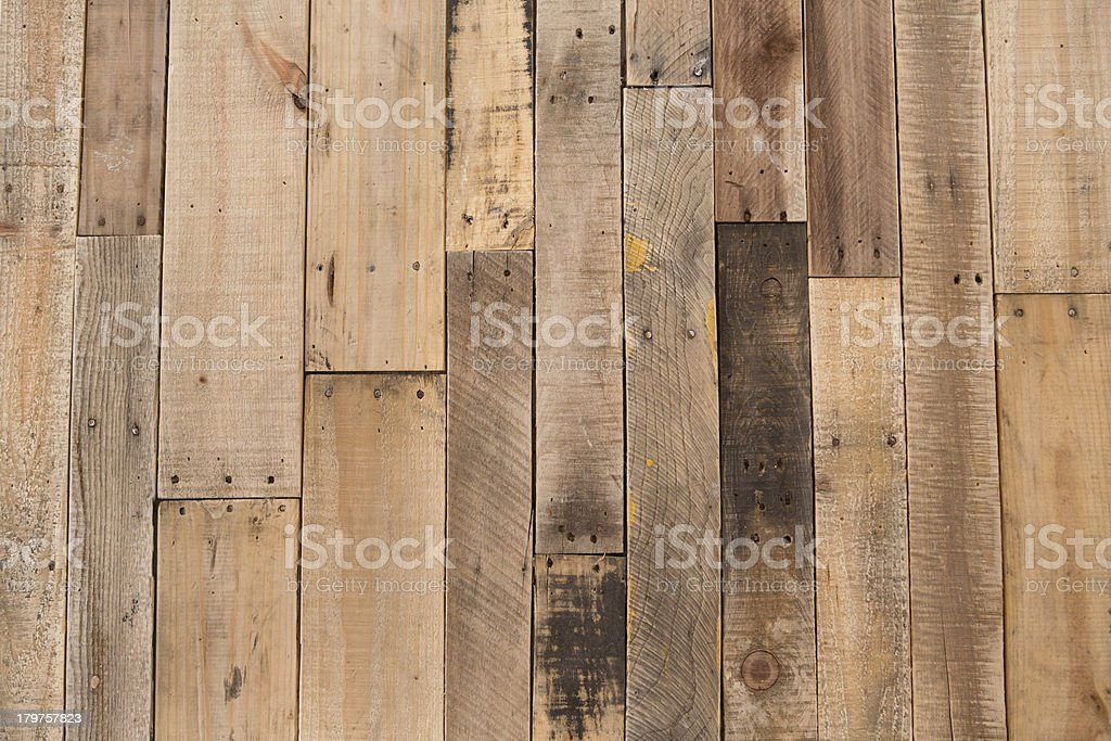Color Image of Pallet Wood Floor royalty-free stock photo