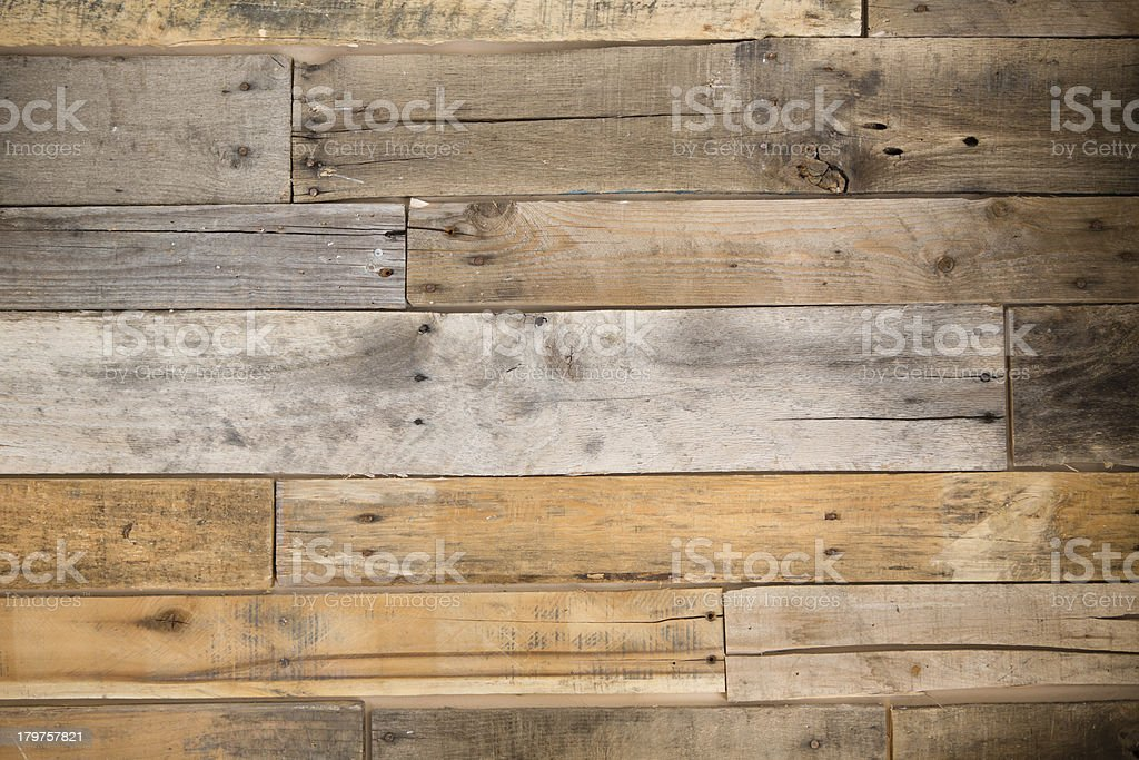 Color Image of Pallet Wood Wall stock photo