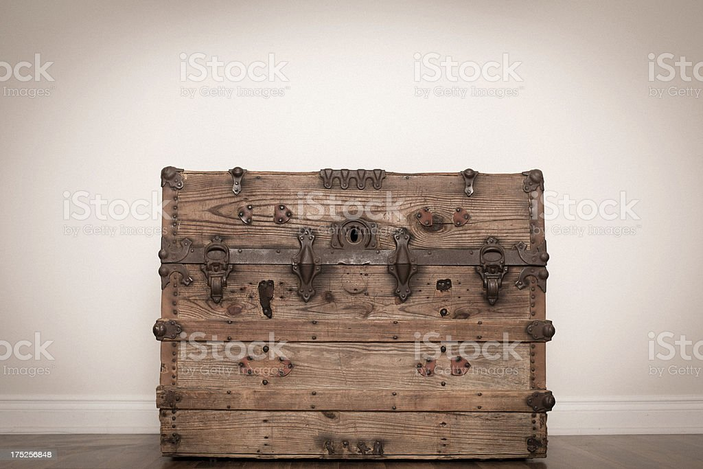 Color Image of Vintage Wood Trunk royalty-free stock photo