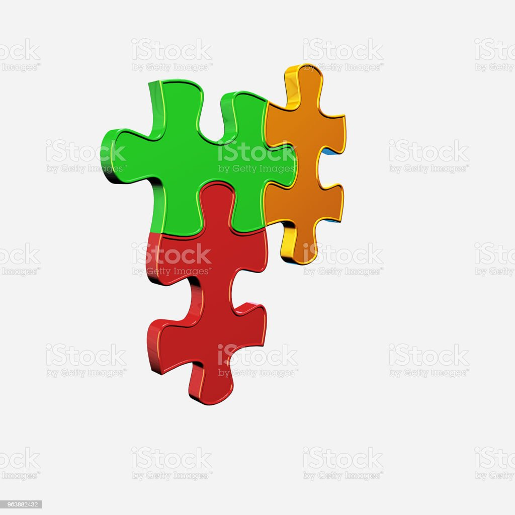 Color Image Puzzle - Royalty-free Business Stock Photo