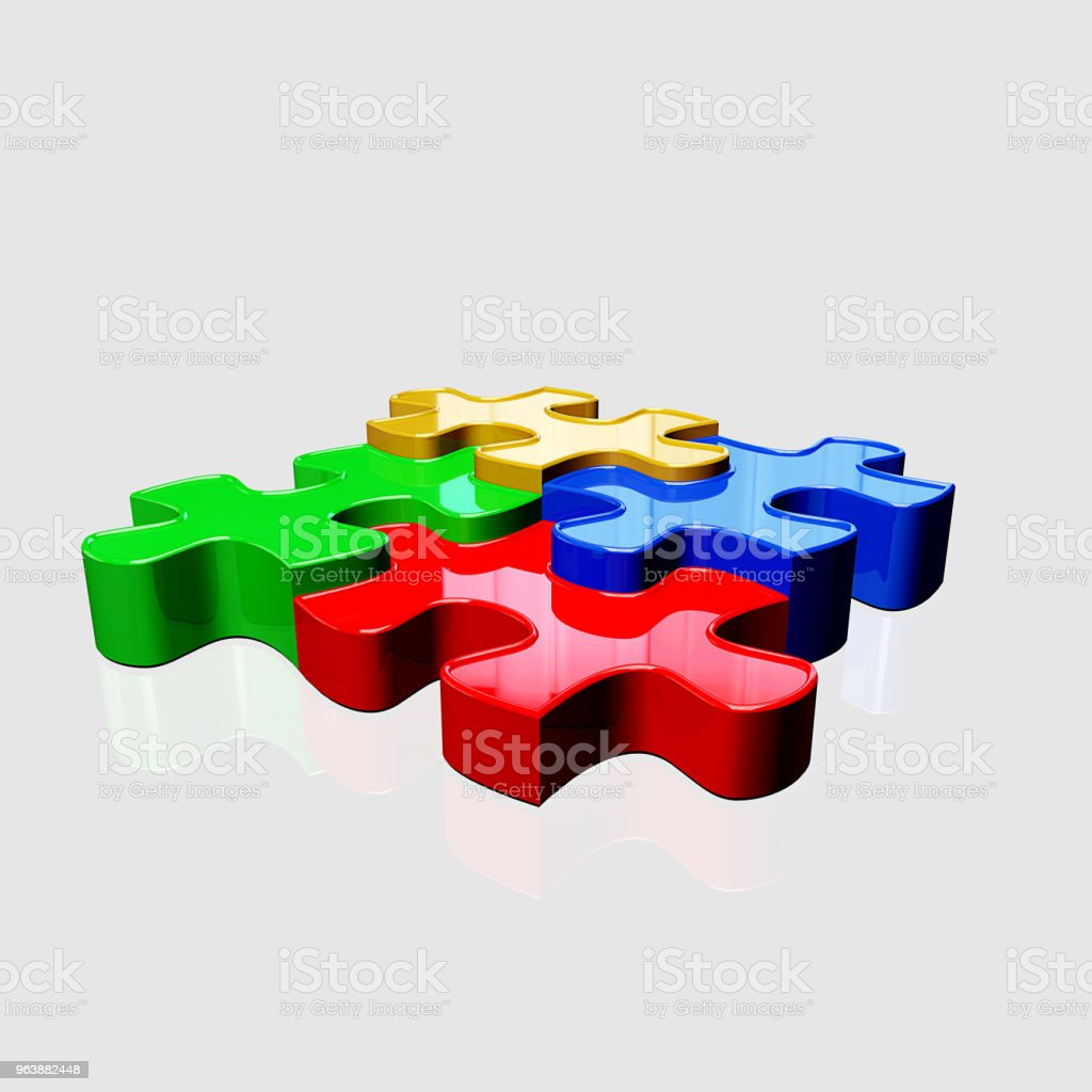 Color Image Puzzle - Royalty-free Blue Stock Photo