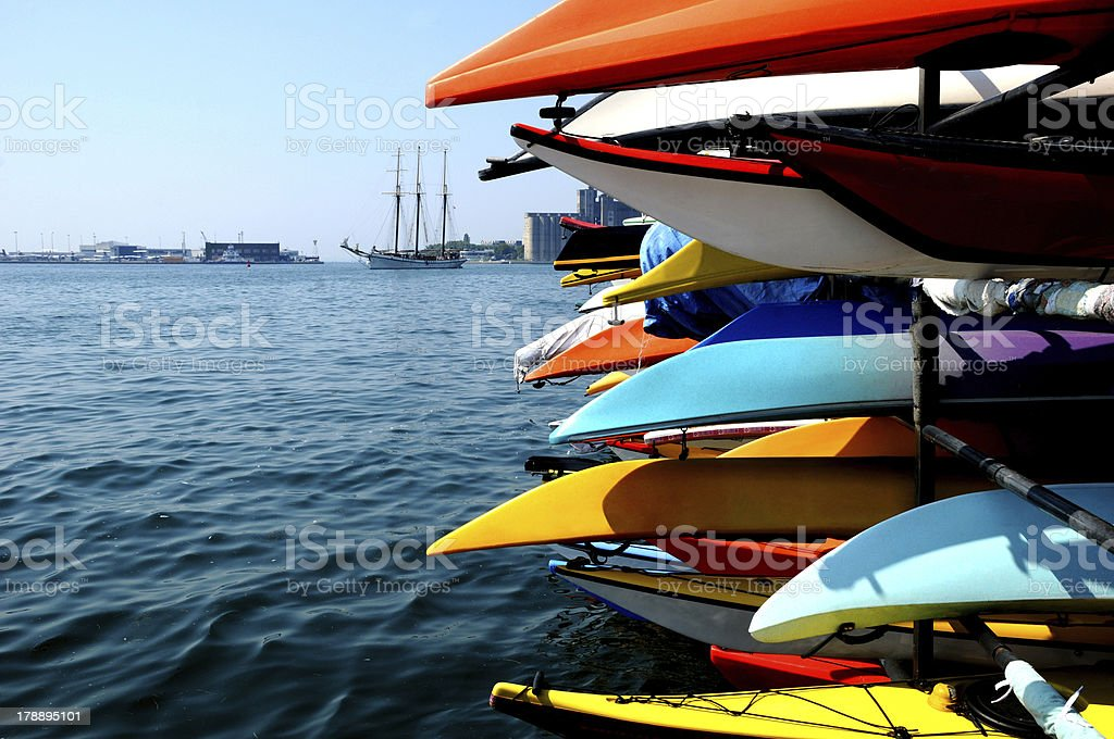 color kayak one royalty-free stock photo
