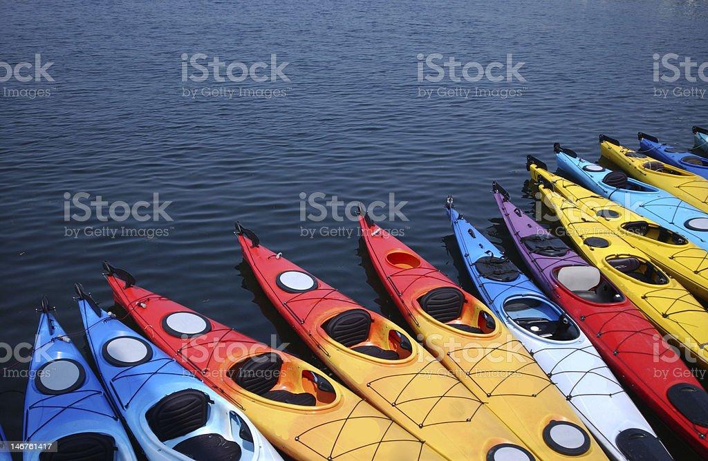 Color Kayaks stock photo