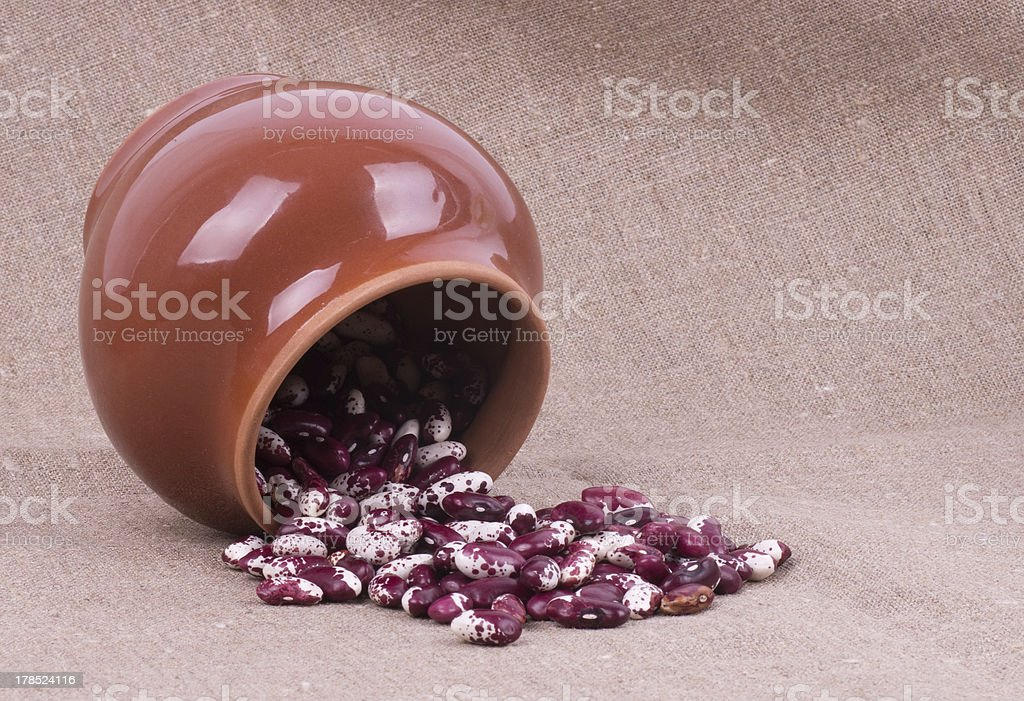 Color kidney beans in a bowl royalty-free stock photo