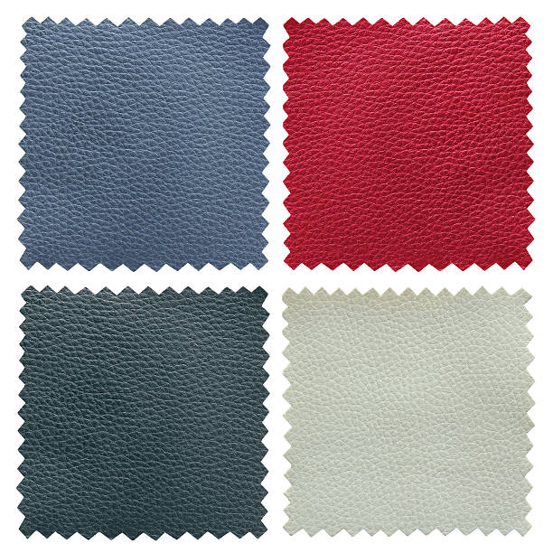 color leather samples texture stock photo