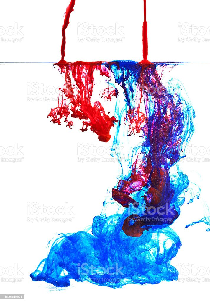 color liquid in water royalty-free stock photo