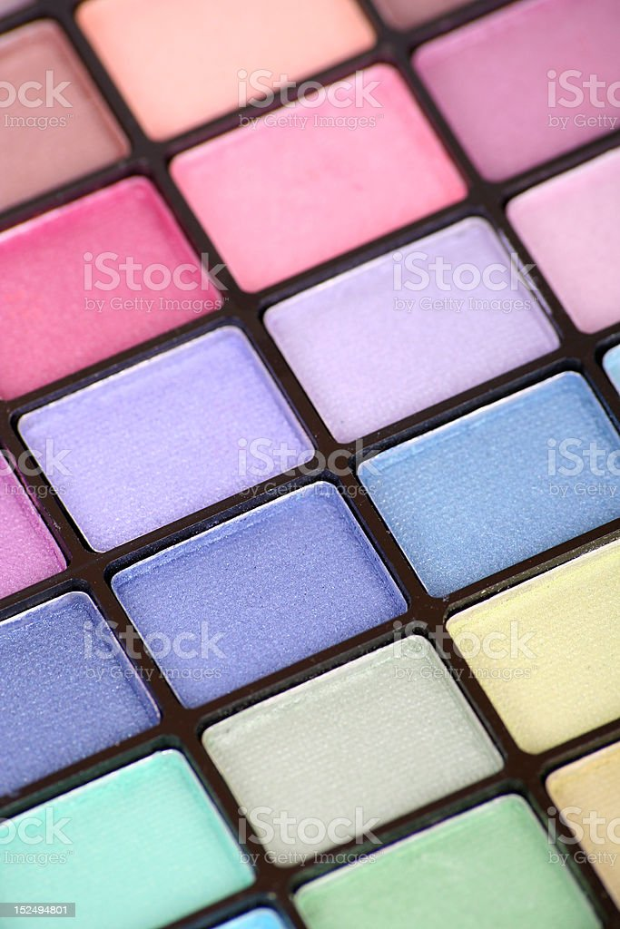 Color Makeup Palette stock photo