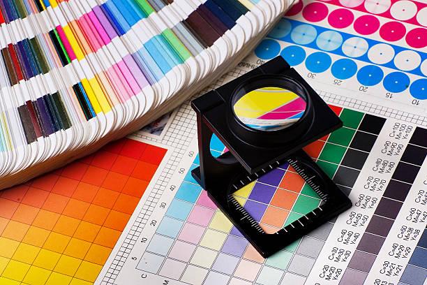 Color management set stock photo