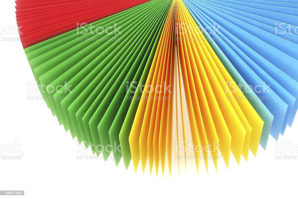 Color Memo Paper Fan stock photo