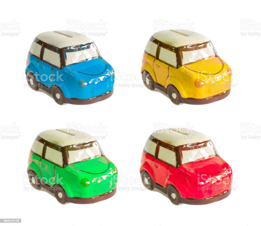 color mini car piggy bank royalty-free stock photo