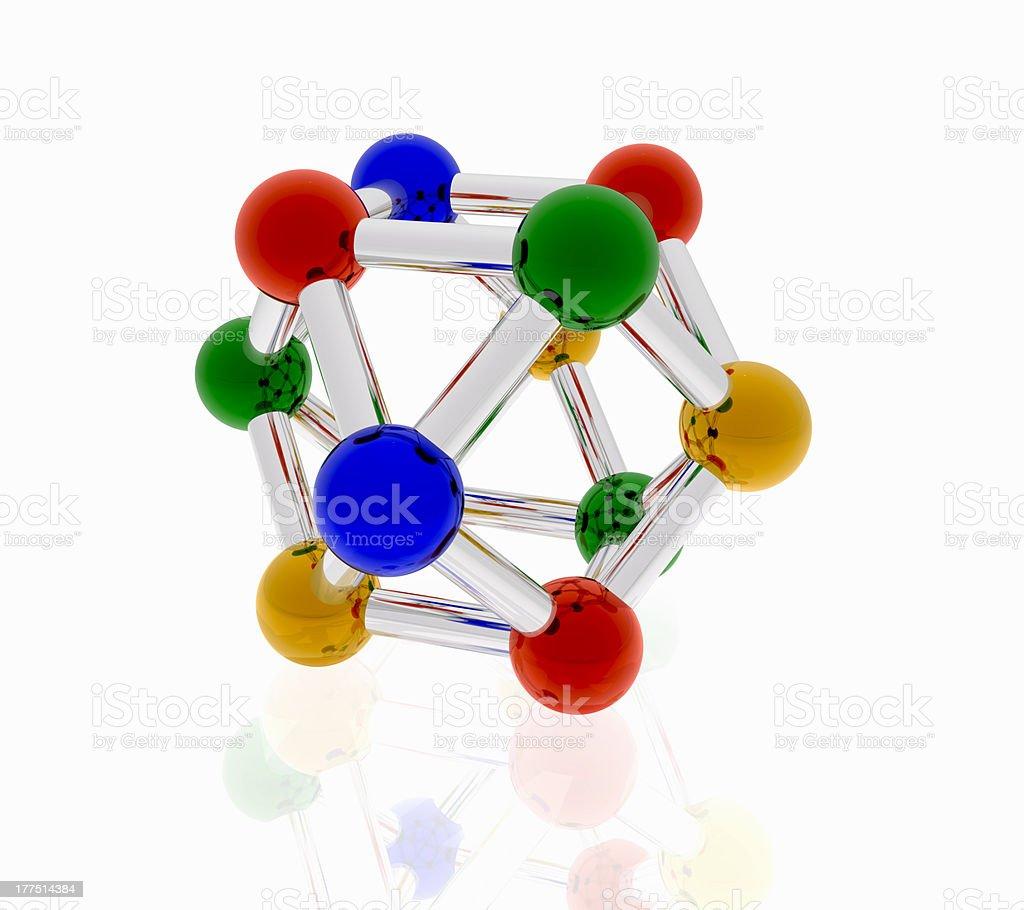 color molecule for creative design stock photo