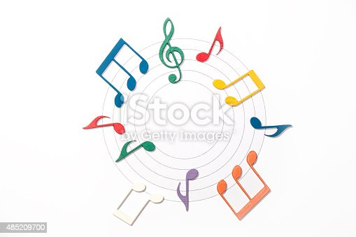 istock Color Musical Notes 485209700