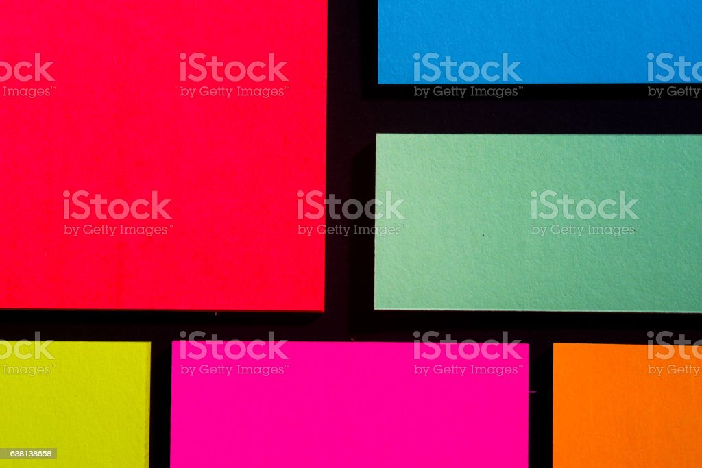 Color Note Cards stock photo