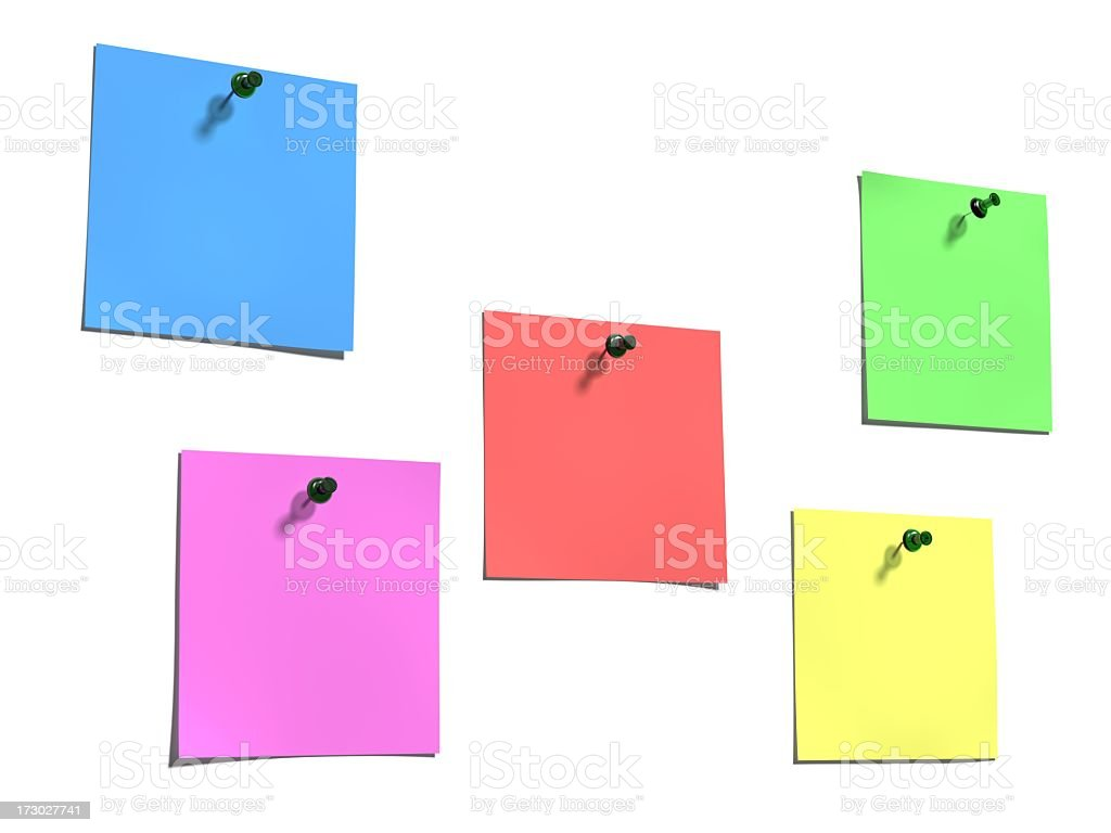 Color notes royalty-free stock photo