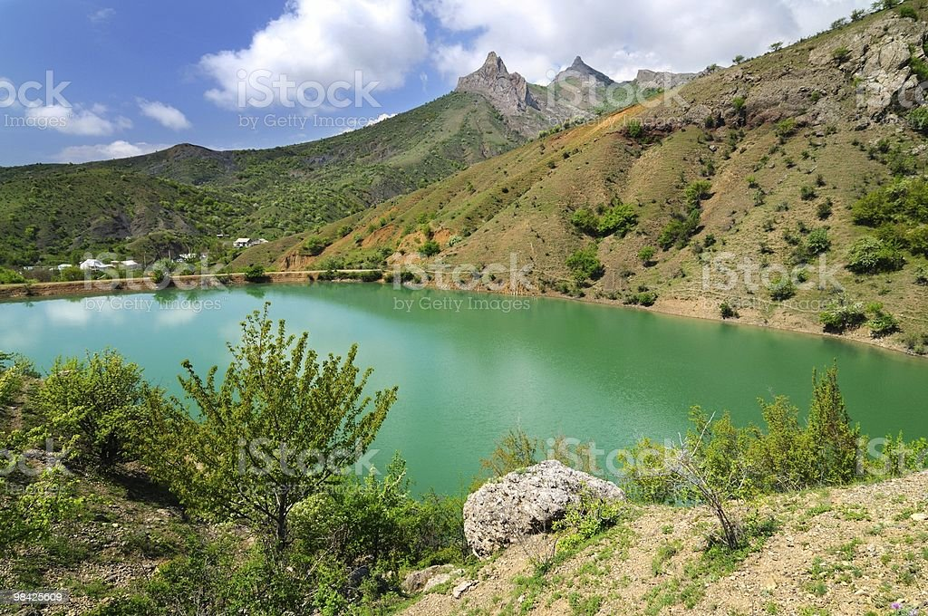 Color of mountain lake royalty-free stock photo