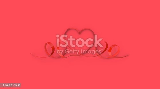 908708148 istock photo Color of the year 2019, living coral concept, love object on living coral background 1143927668
