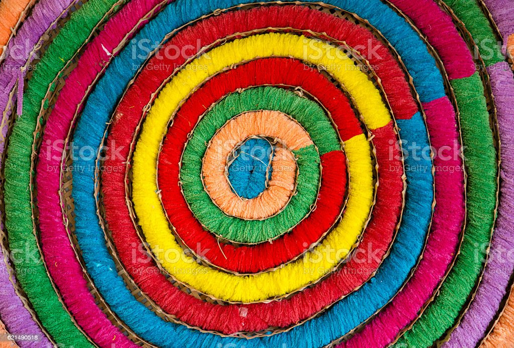 color of threads in Circle backgound foto stock royalty-free