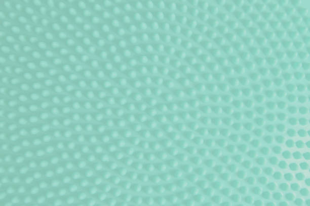 color of year 2020 neo mint, round dotted pattern texture background. - low contrast stock pictures, royalty-free photos & images