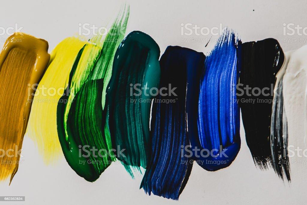 color oil brush stripes zbiór zdjęć royalty-free