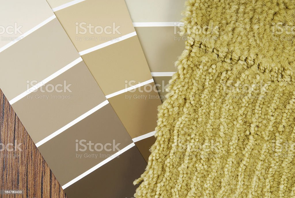 color paint   and carpet choicefor interior royalty-free stock photo