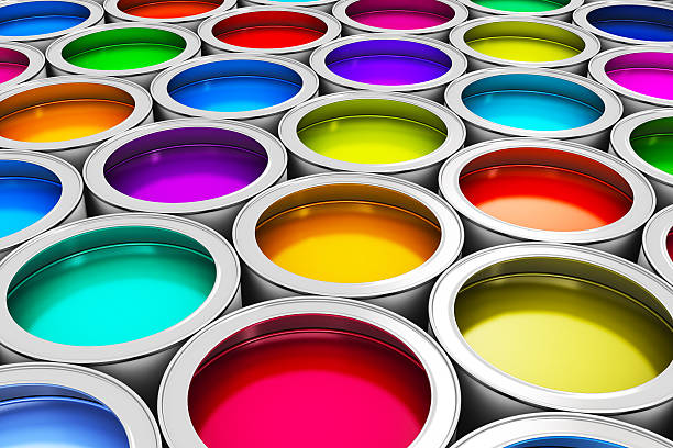 farbe farbe-dosen - zinn farbe stock-fotos und bilder