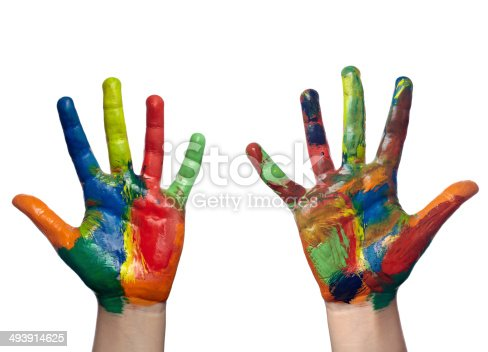 490853703 istock photo color painted child hand art craft 493914625