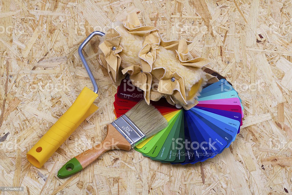 Color palette and tools royalty-free stock photo