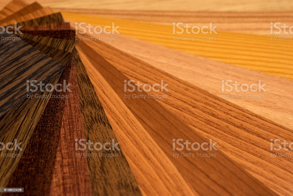 Color Palette and Wood Texture Samples Guide stock photo