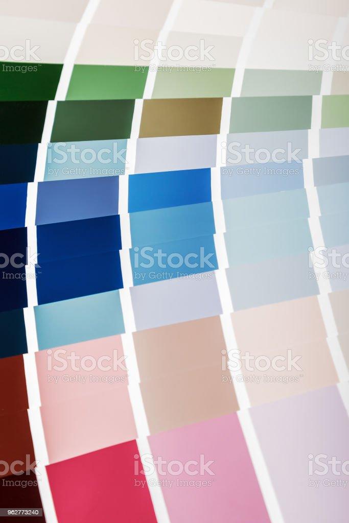paleta de cores para a seleção de tintas, tecidos, acabamento m - Foto de stock de Amarelo royalty-free
