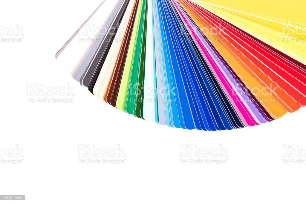 Palette De Couleurs, Guide Des échantillons De Peinture, Catalogue Couleur  Isolé Sur Fond Blanc