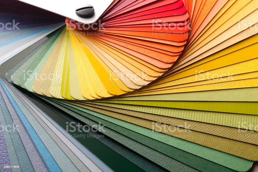 Color palette guide stock photo
