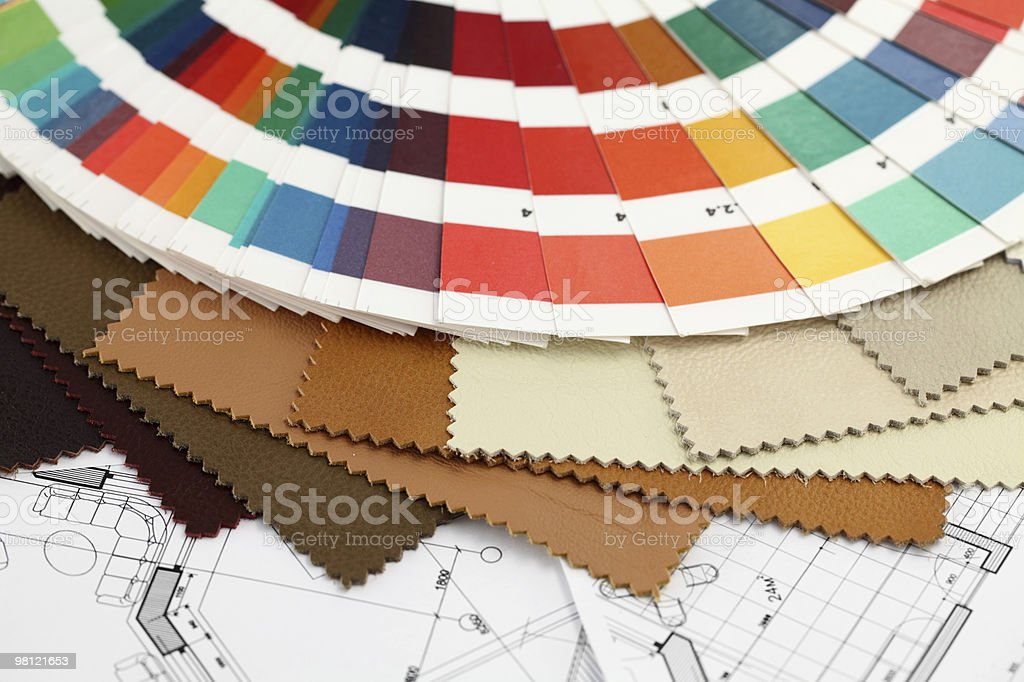 color palette of architectural materials royalty-free stock photo