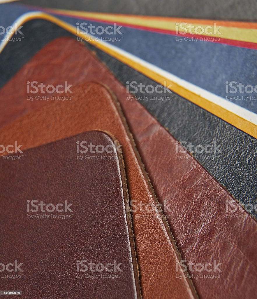 Color palette sample of leather. royalty-free stock photo