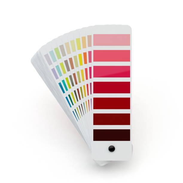 Farbpalette, weißer Hintergrund – Foto