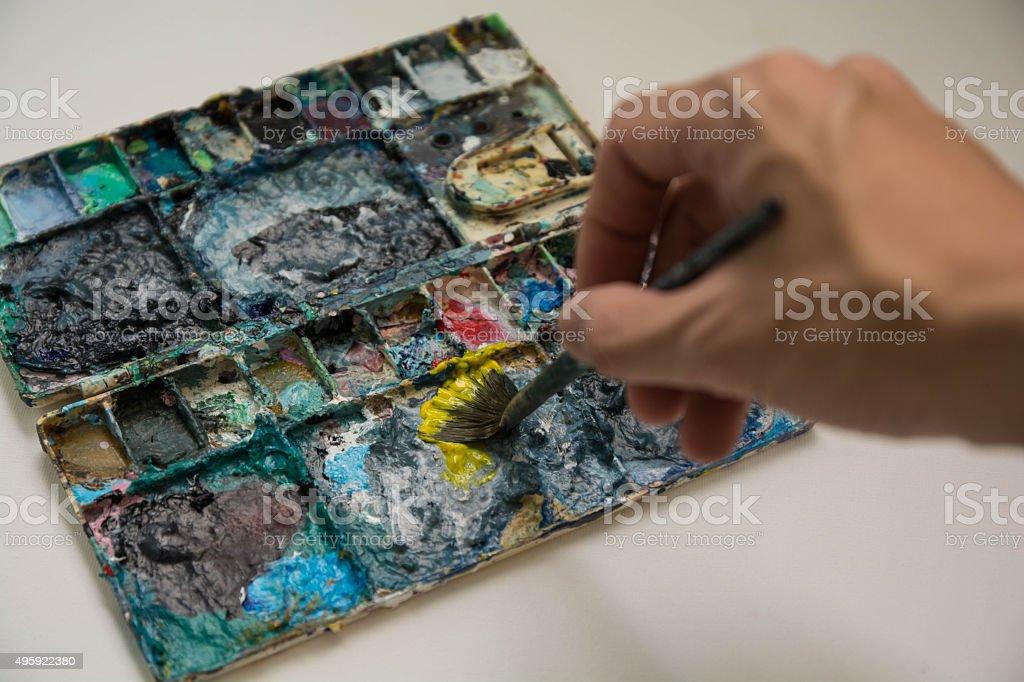 Color palettle stock photo