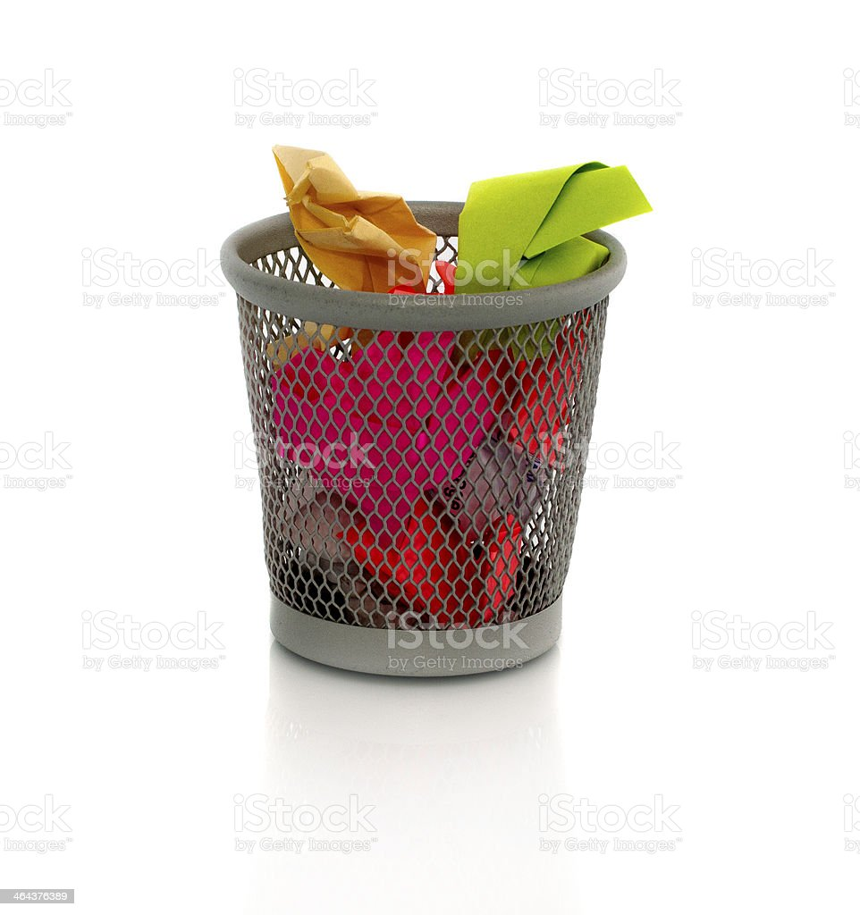 color paper in container royalty-free stock photo