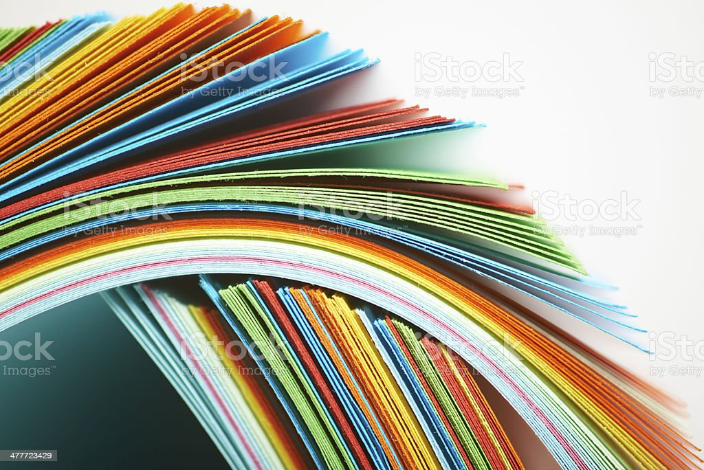 Color paper. stock photo