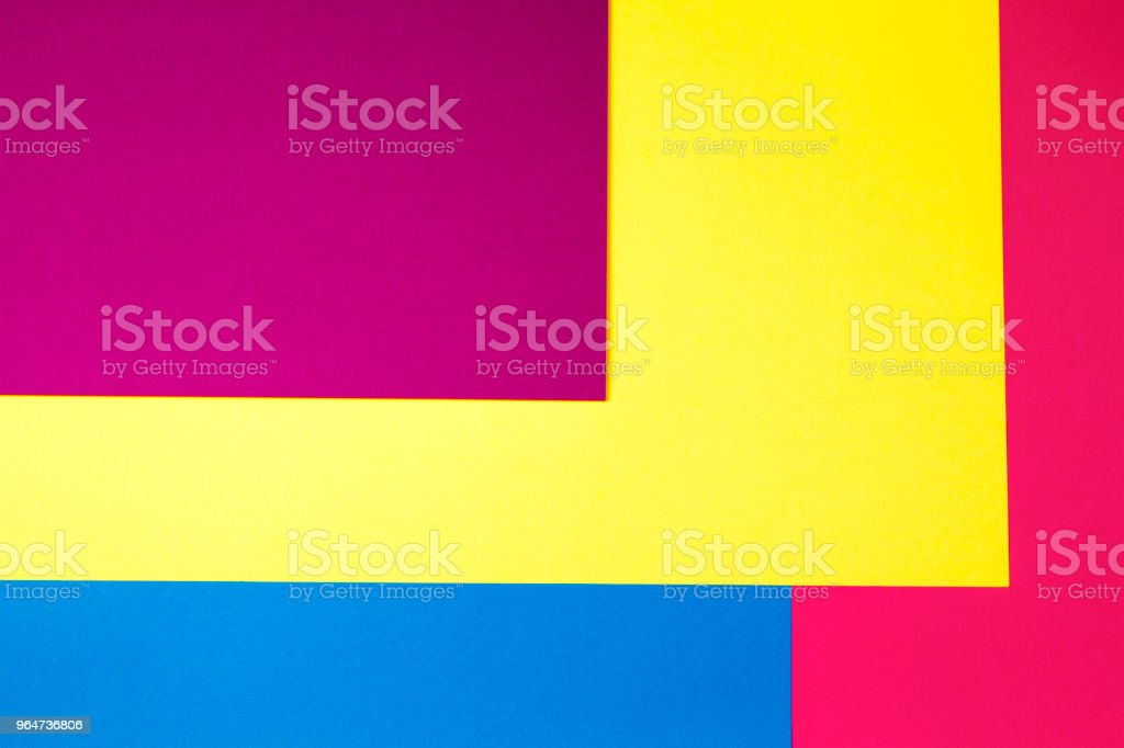 Color papers geometry flat composition background royalty-free stock photo