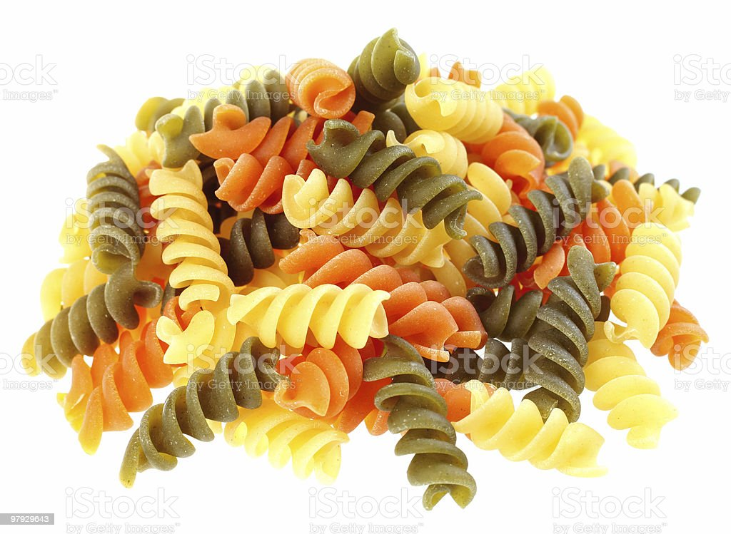 Color pasta royalty-free stock photo