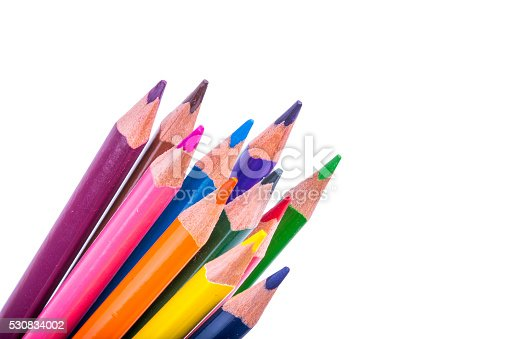 istock Color Pencil Isolated On White Background 530834002
