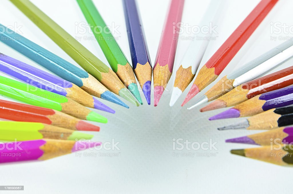 color pencil isolated royalty-free stock photo
