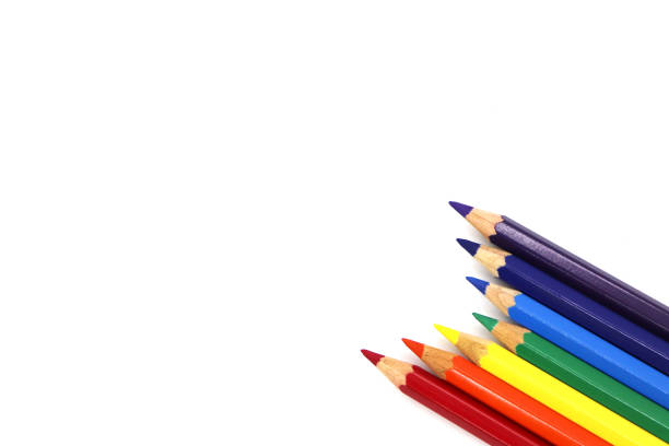 color pencil isolated - coloured pencil stock photos and pictures
