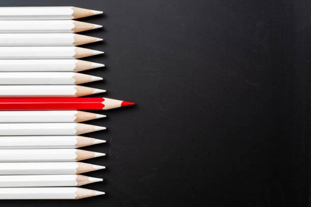 Farbstift mit Führung, Teamarbeit-Konzept – Foto