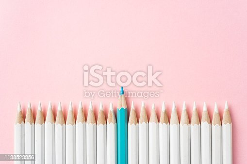 istock color pencil with leadership, teamwork concept 1138523356