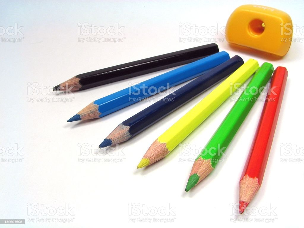 Color pencils 2 royalty-free stock photo