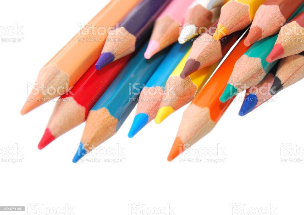 Color pencils 3 stock photo