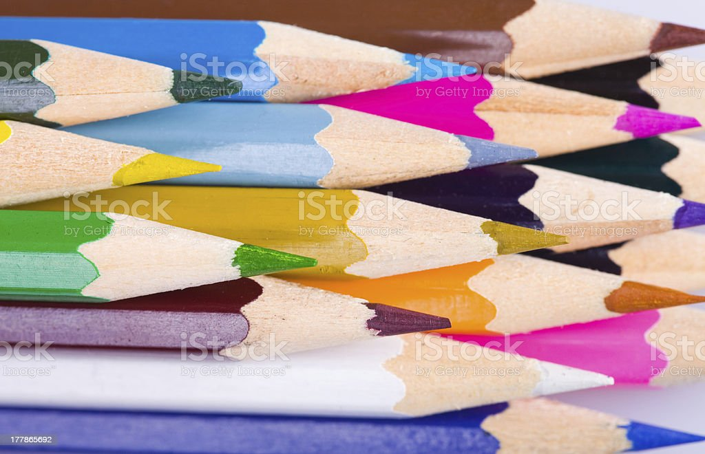 Color pencils background royalty-free stock photo