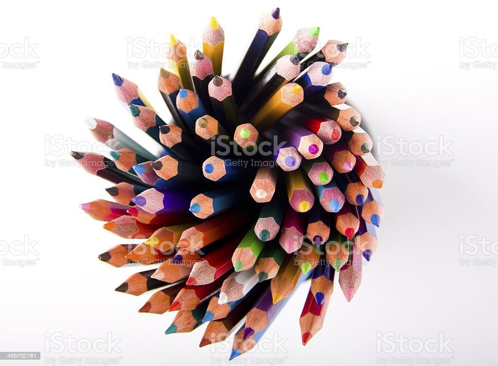 Matite di colore con la matita - foto stock