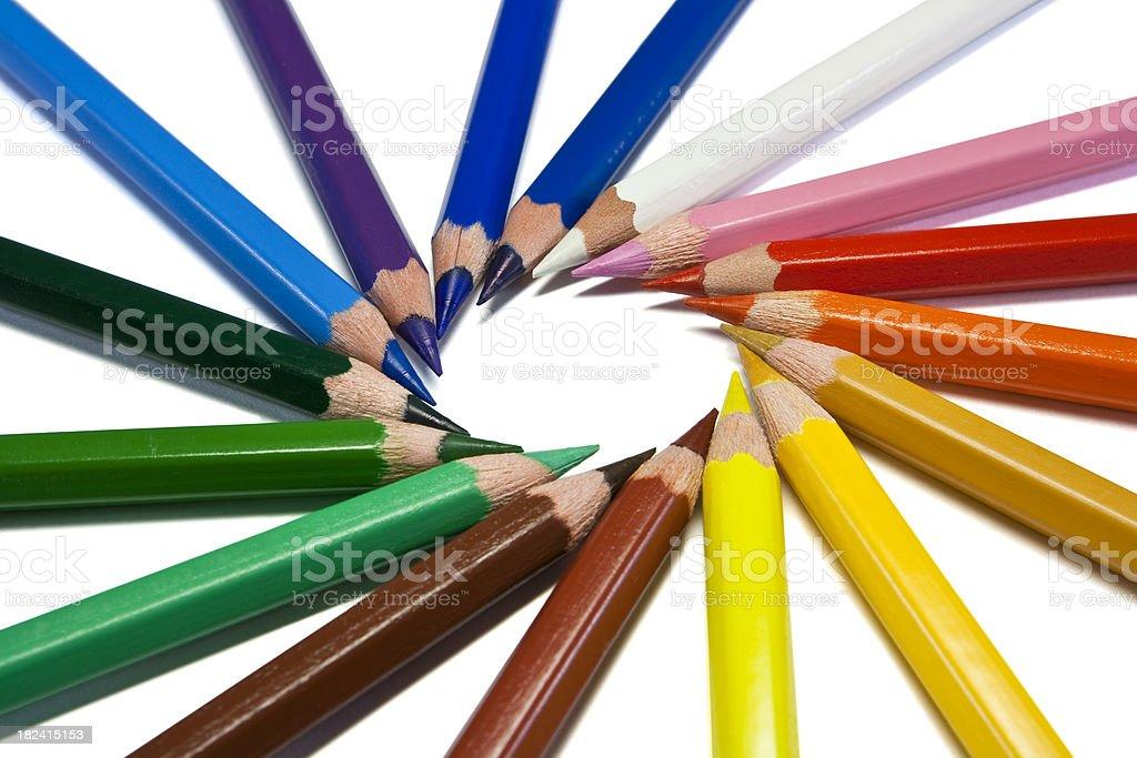 farbe stifte isoliert auf weiss stockfoto und mehr bilder