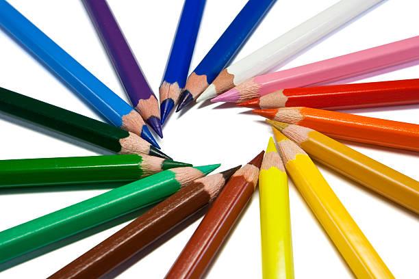 Farbe Stifte isoliert auf weiss – Foto